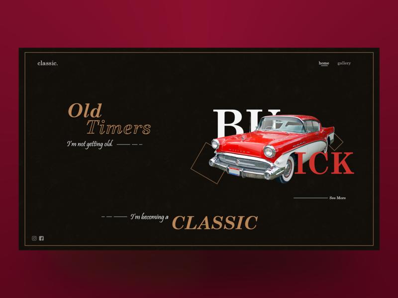 Old Timers oldtimers car design webdesign illustrator photoshop