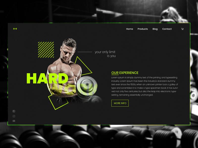 GYM webshop website design modern photoshop illustrator webdesign gym