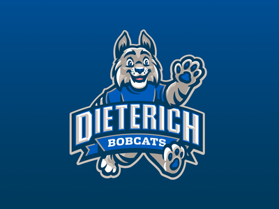 Dieterich Elementary School branding school illustration kids illustration kids fun friendly cute mascot wildcats wildcat lynx cats cat bocat bobcats