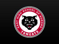 East Aurora High School retro modern athletics high school sports mascot cats cat tomcat tomcats