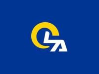 LA Rams brand logo concept football helmet nfl los angeles la rams rams