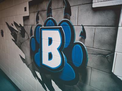 Brentwood Elementary hall usage wall elementary school friendly mascot bear bears brentwood