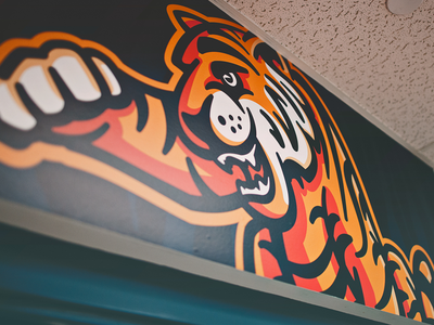 Juliette Low Tigers // Wall Graphic