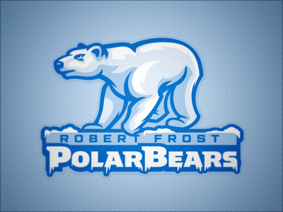 Robert Frost Polar Bears ice frost polar bears bear mascot school elementary