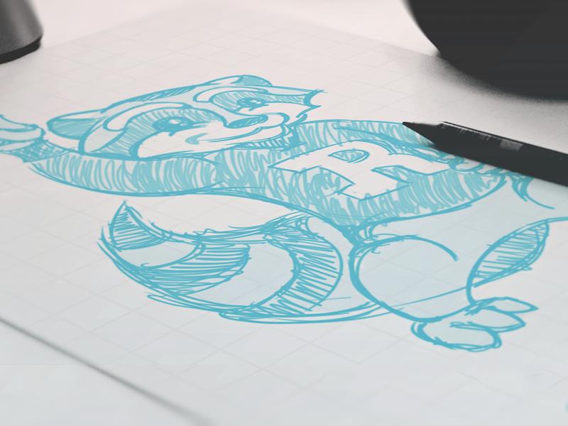 Rupley Raccoons // Sketch character sketch raccoons raccoon mascot school elementary