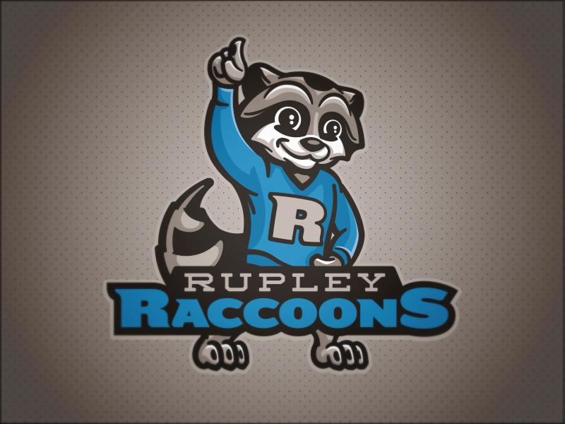 Rupley Raccoons // Primary character raccoons raccoon mascot school elementary