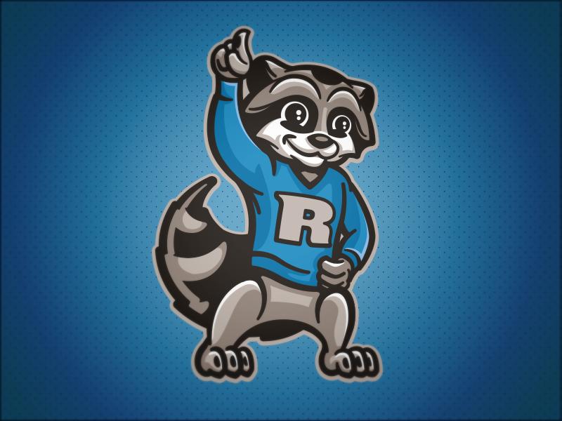 Rupley Raccoons // Mascot character raccoons raccoon mascot school elementary
