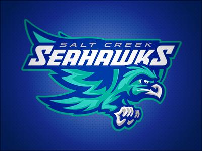 Salt Creek Seahawks // Primary bird hawks hawk seahawks seahawk mascot school elementary