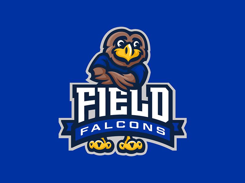 Field Elementary School character sports bird school elementary mascot logo falcon falcons