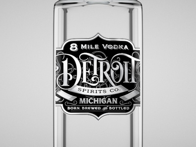 8 Mile Vodka - Bottle
