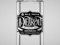 8 Mile Vodka - Bottle