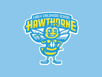 Hawthorne Early Childhood School kids bug mascot character fun bee preschool early learning center school
