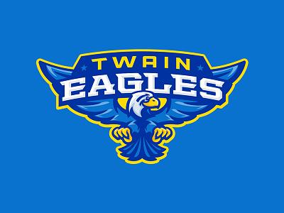 Twain Elementary School kids sports mascot eagle eagles school elementary