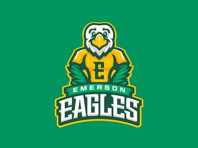 Emerson Eagles sports cartoon character fun mascot eagles eagle school elementary