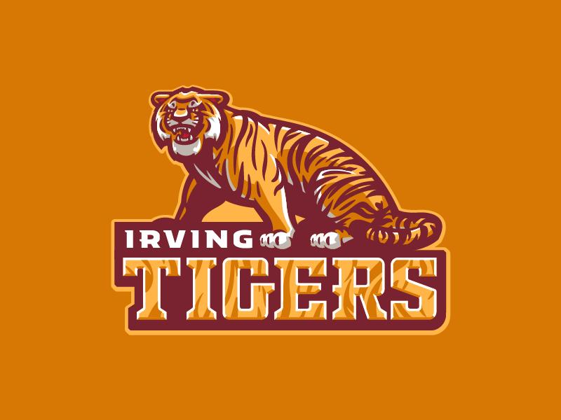 Irving Tigers cat stripes sports mascot tigers tiger school middle