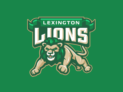 Lexington Lions character cat sports mascot lions lion school elementary