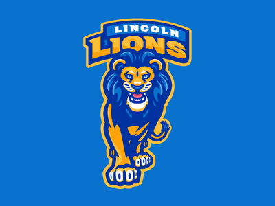 Lincoln Lions sport sports cat lion lions character mascot elementary school