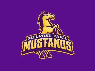 Melrose Park Mustangs sports mascot broncos bronco mustangs mustang horse school elementary
