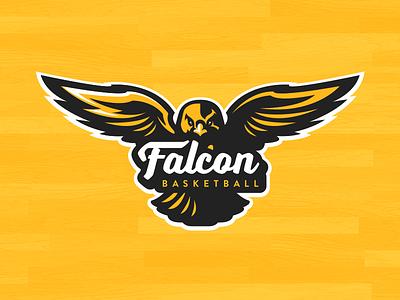 Falcon Basketball club sports logo basketball falcons falcon