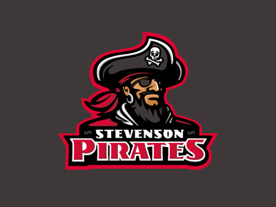 Stevenson Pirates logo branding design character sports mascot pirates pirate school middle