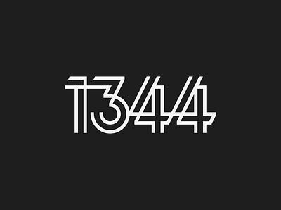 Studio 1344 modern modern logo numerals numbers logo design logo branding agency brand identity branding studio