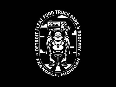 Detroit Fleat – Illustration restaurant branding illustration foodie food and drink fun michigan detroit booze bar restaurant food food truck