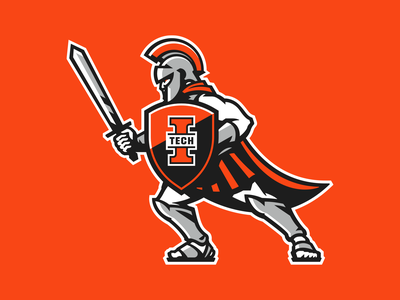 Indiana Tech Warriors - Warrior centurion spartan knight logo character branding sports branding sports logo sports mascot warriors warrior tech indiana