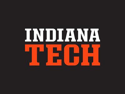 Indiana Tech - Wordmark wordmark logo font typeface type letters lettering typogaphy wordmark