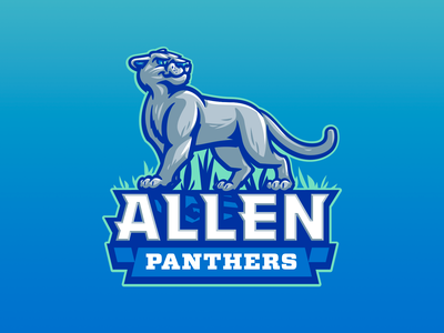 Allen Elementary fun sports elementary school character illustration child kids mascot panthers panther