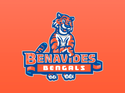 Benavides STEAM Academy bengal bengals tigers tiger children kids kindergarden preschool academy tech science steam mascot