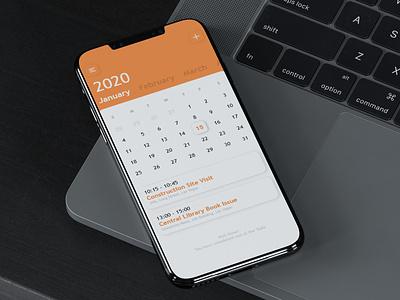 Calendar and Task Reminder - App UI, iPhone Calendar UI task reminder reminder android calendar android app android design iphone calendar iphone app iphonex calendar design calendar 2019 calendar app calendar techo aj ui 36daysoftype