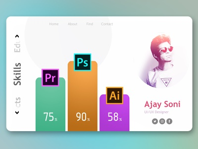 Portfolio Design | Web UI | techo_AJ techo-aj ui skill set web ui portfolio branding illustration