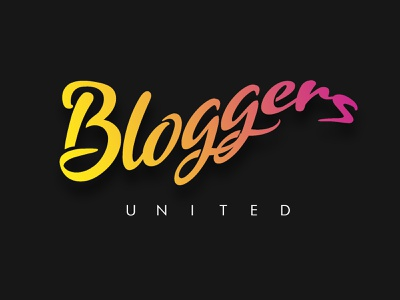 Bloggers United | Logo | Blogging | Logo Idea | Gradient logo design techo aj animation vlog blog blogging bloggers lettering artist lettering art lettering logotype uiux ui bucket logo inspiration logo concept logo idea logo
