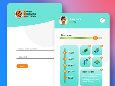 Univesity Management System | LPU Touch 2.0 register form login screen university education design ui branding illustration techo aj