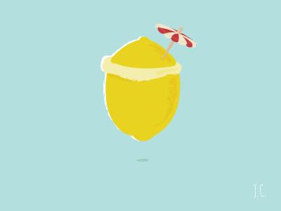 Dribbble lemon