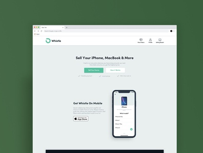 Landing Page Redesign for Whistle
