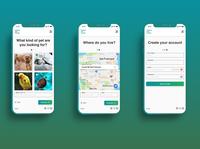 Instant Pet Finder Registration Form flow registration form mobile design mobile flat ux ui minimal design