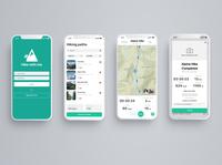 Hike With Me: Mobile App For Scheduling Hikes With Friends flow registration form mobile app mobile design mobile app ux ui minimal design