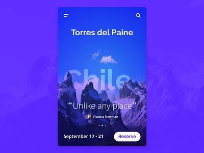 Travel App mockup app travel chile