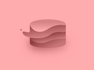 Something cake design logo warped database thing