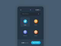Lightning Pay app crypto design ui ux bitcoin mockup