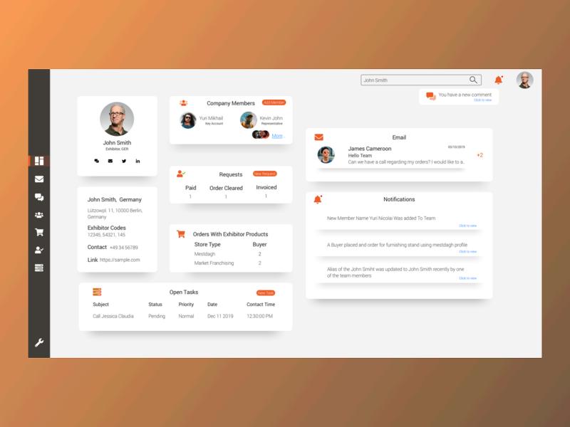 CRM Dashboard! webdesign website design website dashboad dashboard design dashboard ui crm ui design ui  ux design sketchapp