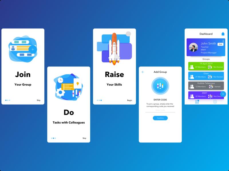 Educational Training App V2 (Part One) communication chat app education amazing android ui design ios design ui  ux sketchapp