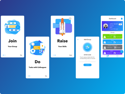 Educational Training App V2 (Part One) communication chat app education amazing android ui design ios design ui  ux sketchapp