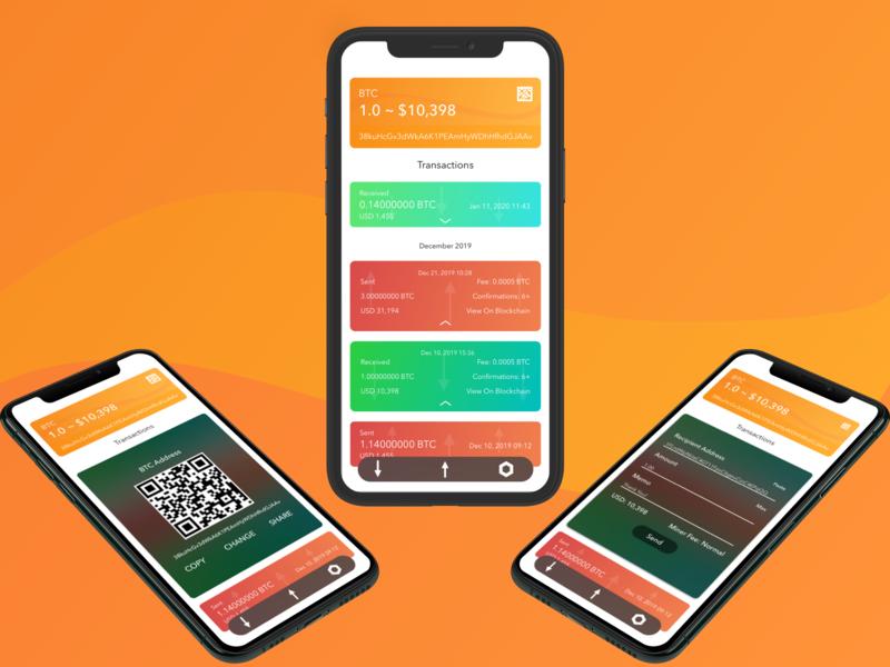 Copay BTC Wallet Concept! prototype mockup wallet app crypto currency cryptocurrency crypto wallet bitcoin android ios ui  ux ui design design sketchapp