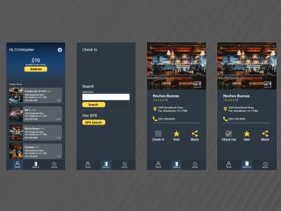 Bar Hop prototype design uxui