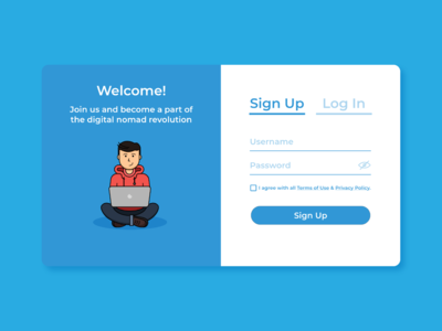 #DailyUI Day 1 - Sign up