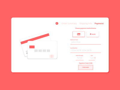 #DailuUI Day 2 - Credit Card Checkout