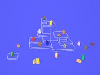 womp // 3D materials illustration
