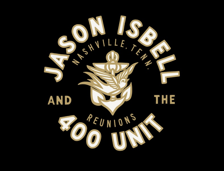 Isbell circle lockup final isbell country nashville screen print tshirt design logo hand lettering illustration